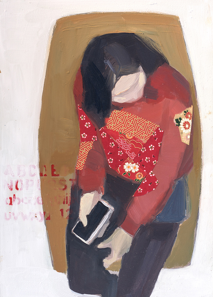 SALA DE ESPERA. La mujer de rojo